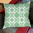 Thumbprintz Modern Geometric Mint Printed Polyester Throw Pillow; 16'' H x 16'' W x 4'' D