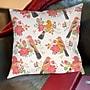 Thumbprintz Littlest Bird Printed Pillow; 16'' H x