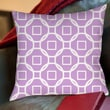 Thumbprintz Modern Geometric Lavender Printed Polyester Throw Pillow; 16'' H x 16'' W x 4'' D