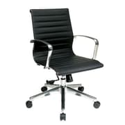 Office Star Eco Leather Conference Chair in Black
