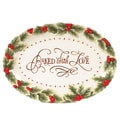 Fitz and Floyd Baked With Love 13'' Oval Cookie Platter
