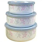 Corelle Pink Trio 6 Piece Food Storage Set