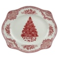 Johnson Brothers Old Britain Castles Christmas Oval Platter; Pink