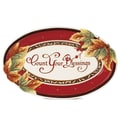 Fitz and Floyd Bountiful Holiday Sentiment Oval Serving Tray