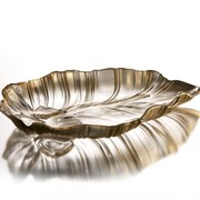 Fifth Avenue Crystal Venezia Leaf Platter; Gold