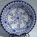 Le Souk Ceramique Azoura Design 14'' Serving Bowl