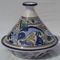 Le Souk Ceramique Aqua Fish Design Serving Tagine