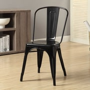 Monarch Specialties Inc. Side Chair III (Set of 2); Black Glossy