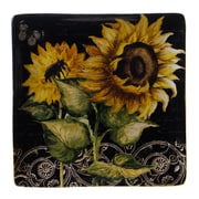 Certified International French Sunflowers Square Platter
