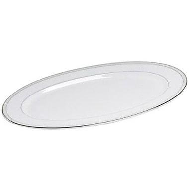 Nikko Ceramics Platinum Beaded Pearl 14.25'' Oval Platter