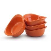 Rachael Ray Stoneware Condiment Server (Set of 4); Orange