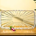 Crystal Clear Alexandria Rectangle Serving Tray