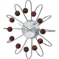 Verichron Bent Spokes Modern Wall Clock in Walnut