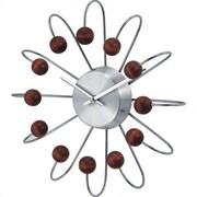 Verichron Telechron Bent Spokes Modern Wall Clock in Walnut