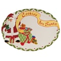 Fitz and Floyd Santa's Big Day Oval Cookie Platter
