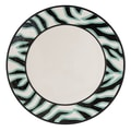 Fitz and Floyd Cockatoo 14'' Round Platter; Black