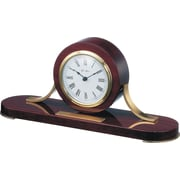Gustav Becker Loquet Mantel Clock in Mahogany with Polished Brass