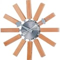 Verichron Valora Modern Wall Clock with Natural Wood Accents