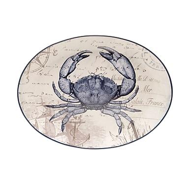 Certified International Coastal Postcards Platter
