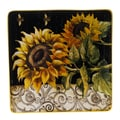 Certified International French Sunflowers 14.5'' Square Platter