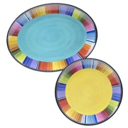 Certified International Serape 2 Piece Melamine Platter Set