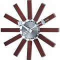 Verichron Valora Modern Wall Clock in Walnut