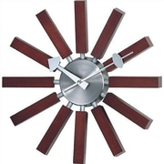 dCOR design Telechron Modern Wall Clock in Walnut