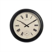 Nextime Black Waterloo Wall Clock with Frame