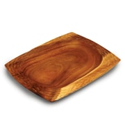 Enrico Casual Dining Serving Tray; Natural Lacquer