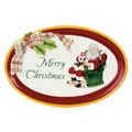Fitz and Floyd Merry Christmas Sentiment Oval Serving Tray
