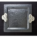 Thirstystone Wine-Food-Friends Glass Square Serving Tray