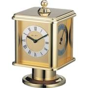 Gustav Becker Rallye Revolving Cube Mantel Clock in Polished Brass
