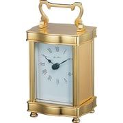 Gustav Becker Arceau Carriage Mantel Clock in Polished Brass
