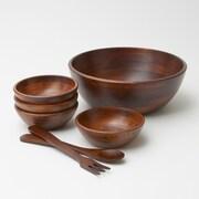 Woodard & Charles 7 Piece Salad Bowl Set; Large