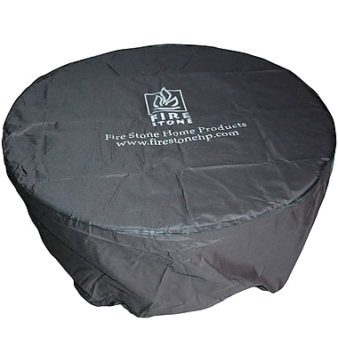 The Outdoor GreatRoom Company Round Vinyl Cover for Aztec or Saturn Crystal Fire Pit Table