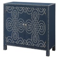 Crestview Indigo Cabinet with Nailhead