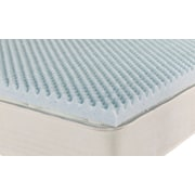 Brooklyn Bedding iPedic Convoluted Gel Memory Foam Topper; Full