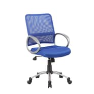 Boss Office Products Mesh Back Task Chair; Blue