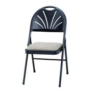 Meco HG Plastic Back Chair (Set of 4); Black Lace/Fritz