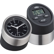 Frieling 2 Piece Digital Kitchen Timer and Clock Set; Black