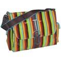 Hadaki Multitasker Monkey Stripes Messenger Bag; 13'' H x 14.5'' W x 4.25'' D
