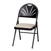 Meco HG Plastic Back Chair; Black Lace/Zuni