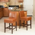 Home Loft Concept Walter Counter Bar Stool (Set of 2); Hazelnut