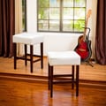 Home Loft Concept Zuma 26'' Backless Bar Stool (Set of 2); White
