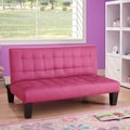 DHP Ariana Junior Futon and Mattress; Pink