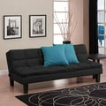DHP Adela Futon and Mattress; Black