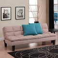DHP Adela Futon and Mattress; Tan