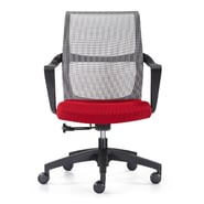 Woodstock Marketing Ravi Mid-Back Mesh Task Chair with Arms; Red