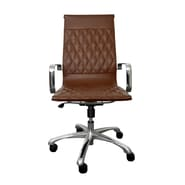 Woodstock Marketing Annie High-Back Executive Office Chair with Arms; Brown