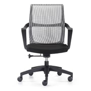 Woodstock Marketing Ravi Mid-Back Mesh Task Chair with Arms; Black